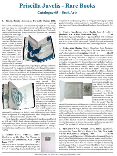Catalogue 65 - Contemporary Book Arts