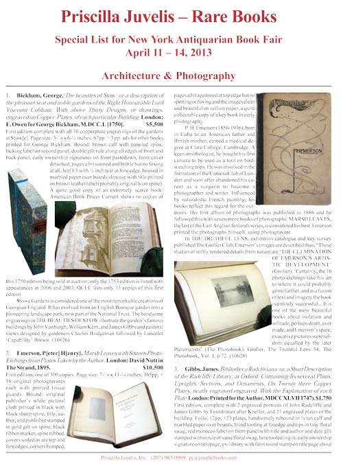 Catalogue 59 - Special List for New York Antiquarian Book Fair