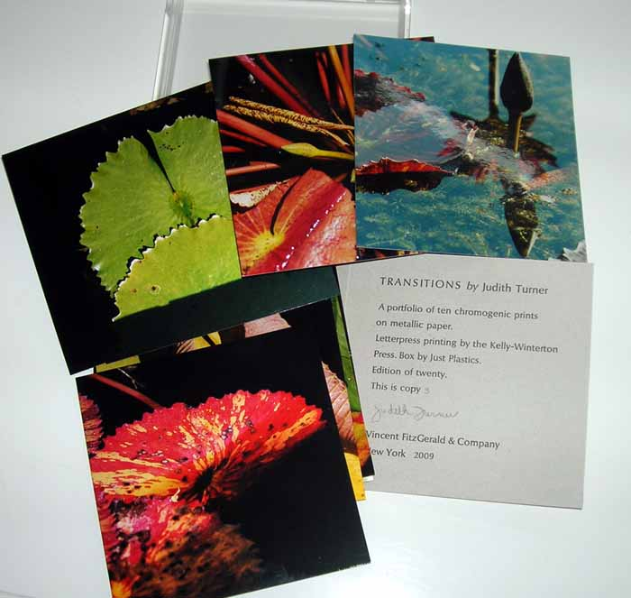 Transitions. Chromogenic Prints by Judith Turner. FitzGerald, Vincent. Turner Co., Judith.