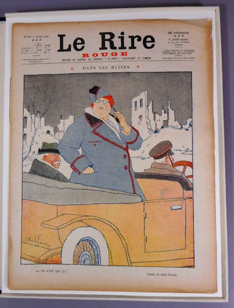 """Le Rire Rouge, No. 27 """"Dans Les Ruines"""" Edith and Walter Berry Wharton."""