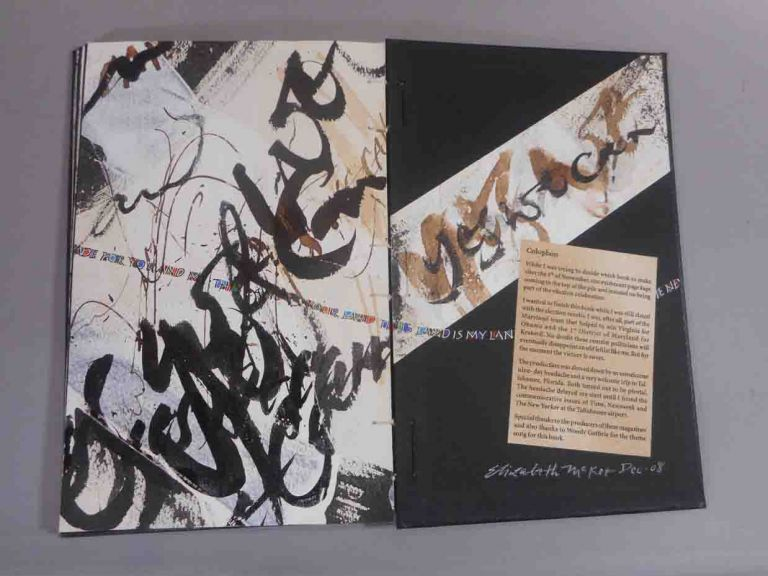 Yes, We Can. A Scrapbook of the 2008 Presidential Campaign. Elizabeth. Woody Guthrie McKee.