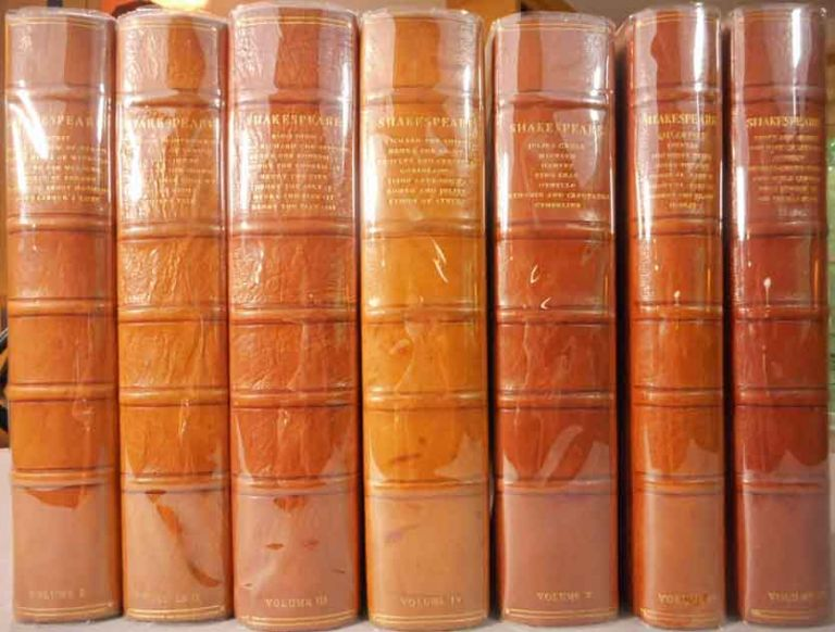 The Works of Shakespeare. The text of the First Folio with Quarto Variants and a Selection of Modern Readings: Edited by Herbert Farjeon. Seven Volumes. Willaim Nonesuch Prsss. Shakespeare.