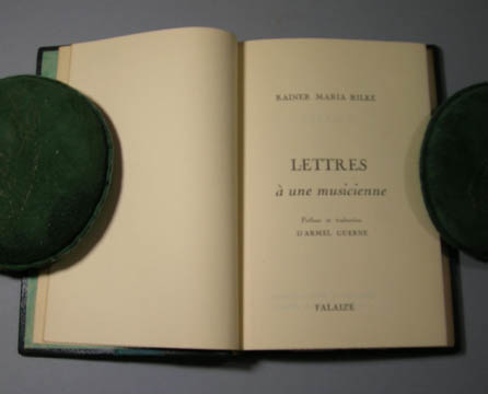 Lettres a une musicienne. Preface and translation by Armel Guerne. Rainer Maria Rilke.