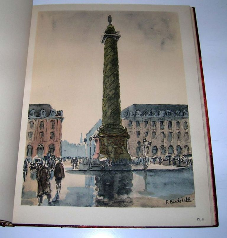 Paris en seize aquarelles. With an introduction by Gaston Bonheur. Basile Leblanc.