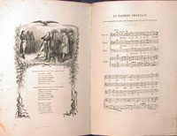 Chants et Chansons Populaires de la France. Nouvelle edition. Notices par Dumersan. Accompagnement de Piano par H. Colet. Illustrations par MM. E. de Beaumont, Boilly, Daubigny, Dubouloz, E. Giraud, Meissonnier, Pascal, Staal, Steinheil, Trimolet. Three Vol. with Chansons Populaires des Provinces de France. Notices par Champfleury. Accompagnement de Piano par J.B. Wekerlin. Illustrations par MM. Bida, Bracquemont, Courbet, Ch. Jacque, Ed. Morin, et al. One Vol. France.