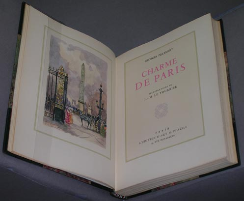 Charme de Paris. Illustrations de J.-M. Le Tournier. Georges Pillement.