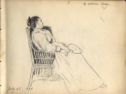 Sketchbook of Original Art. Grace Woodbridge Geer.