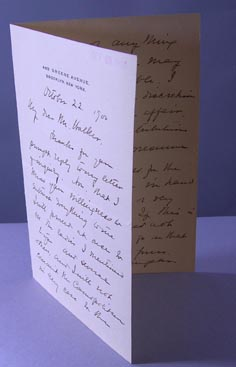 Autograph Letter Signed in full on personal stationary addressed to Mr. Walker, editor with Cosmopolitan. Margaret Sangster, lizabeth Munson.