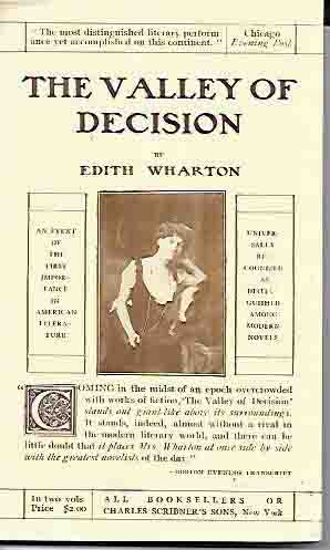 Promotion Broadside for The Valley of Decision. Edith Wharton.