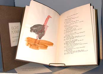 Eight Poems. With Drawings by Robert Andrew Parker Hand-colored by the Artist. Marianne Moore.