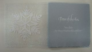 Snowflakes POEM OF THE AIR by Henry Wadsworth Longfellow. Nancy Ruth. Henry Wadsworth Longfellow...