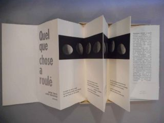 Quelque chose a roule. Poeme original de James Sacre. James Verdigris Press. Sacre