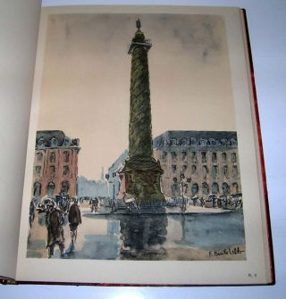 Paris en seize aquarelles. With an introduction by Gaston Bonheur. Basile Leblanc