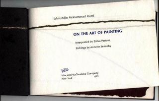 On the Art of Painting. Interpreted by Zahra Partovi. With 26 line etchings by Annette Senneby....