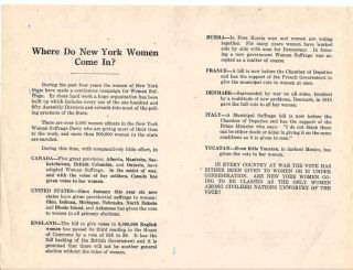 Suffrage as War Measure. New York State Woman Suffrage Party