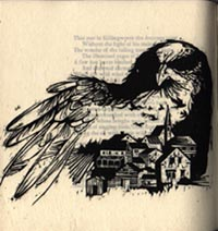 The Birds of Killingworth. Designed with Woodcuts by Ronald Keller. Henry Wadsworth Red Angel...