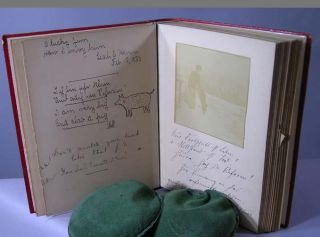 Autograph Remembrance Book with Original Poems and Art. Rachel C. Holmes