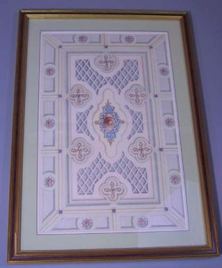 Original Watercolor Design for Beaux Art Ceiling. Archimedes Russell