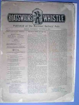 The Boatswain's Whistle. Nos. 1-8 [of 10 issues]. Julia Ward Howe.